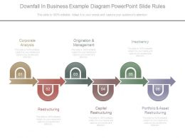 Downfall In Business Example Diagram Powerpoint Slide Rules