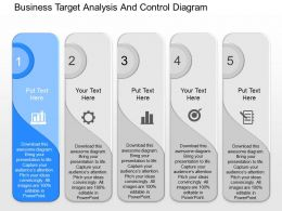 download Business Target Analysis And Control Diagram Powerpoint Template