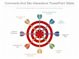 Download Comments And Site Interactions Powerpoint Slides