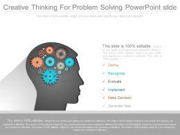 Download Creative Thinking For Problem Solving Powerpoint Slide