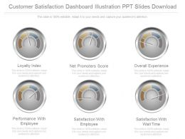 Download Customer Satisfaction Dashboard Illustration Ppt Slides Download