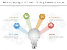 Download Different Techniques Of Creative Thinking Powerpoint Shapes