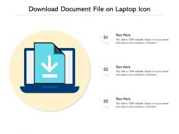 Download Document File On Laptop Icon