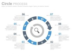 download Eight Staged Circular Chart For Search Manipulation Flat Powerpoint Design