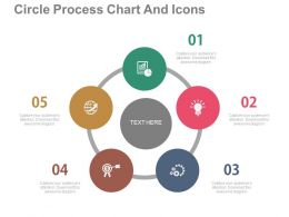 download Five Staged Circle Process Chart And Icons Flat Powerpoint Design