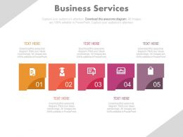 download Five Staged For Business Services Flat Powerpoint Design