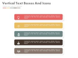 download Five Staged Vertical Text Boxes And Icons Flat Powerpoint Design