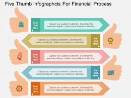 download_five_thumb_infographcis_for_financial_process_flat_powerpoint_design_Slide01