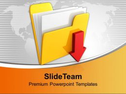 Download Folder Icon Computer Powerpoint Templates Ppt Backgrounds For Slides 0113