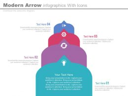 download Four Modern Arrow Infographics With Icons Flat Powerpoint Design