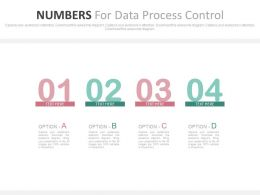 download Four Numbers For Data Process Control Flat Powerpoint Design