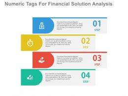 download Four Numeric Tags For Financial Solution Analysis Flat Powerpoint Design