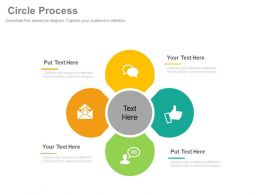 download Four Staged Circle Process Flow Business Communication Flat Powerpoint Design