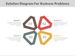 download Four Staged Solution Diagram For Business Problems Flat Powerpoint Design