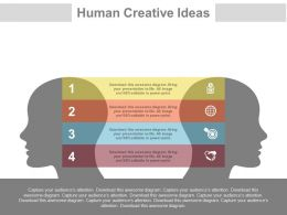 download Four Tags For Human Creative Idea Sharing Flat Powerpoint Design