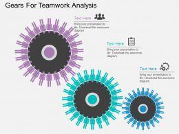 download Gears For Teamwork Analysis Flat Powerpoint Design