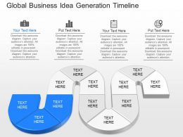 download Global Business Idea Generation Timeline Powerpoint Template