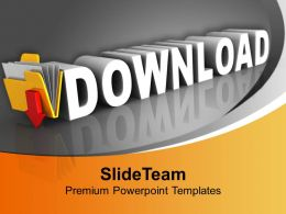 Download Icon On Black Background Internet Powerpoint Templates Ppt Themes And Graphics 0113