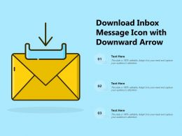 Download Inbox Message Icon With Downward Arrow