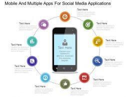 download_mobile_and_multiple_apps_for_social_media_applications_flat_powerpoint_design_Slide01