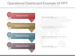 Download Operational Dashboard Example Of Ppt