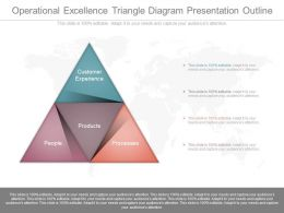 Download Operational Excellence Triangle Diagram Presentation Outline