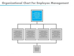 download Organizational Chart For Employee Management Flat Powerpoint Design