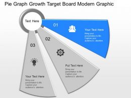 download Pie Graph Growth Target Board Modern Graphic Powerpoint Template