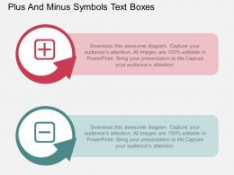 download_plus_and_minus_symbols_text_boxes_flat_powerpoint_design_Slide01