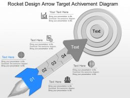 download Rocket Design Arrow Target Achievement Diagram Powerpoint Template