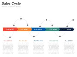 download Sales Cycle For Different Time Periods Powerpoint Slides