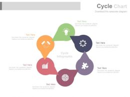 download Six Staged Circle Chart And Business Icons Flat Powerpoint Design