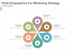 download Six Staged Petal Infographics For Marketing Strategy Flat Powerpoint Design