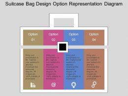 download Suitcase Bag Design Option Representation Diagram Flat Powerpoint Design