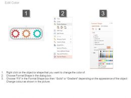 download Three Gears And Icons For Process Control Flat Powerpoint Design