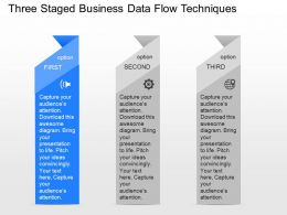 download Three Staged Business Data Flow Techniques Powerpoint Template
