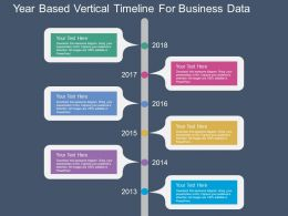 download Year Based Vertical Timeline For Business Data Flat Powerpoint Design