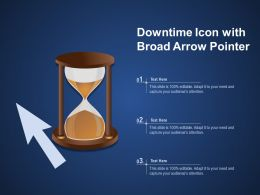 Downtime Icon With Broad Arrow Pointer