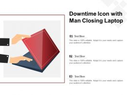Downtime Icon With Man Closing Laptop