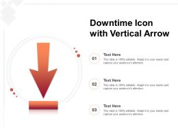 Downtime Icon With Vertical Arrow