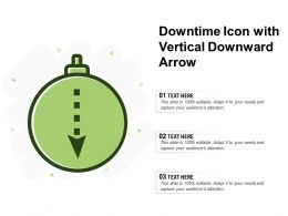 Downtime Icon With Vertical Downward Arrow