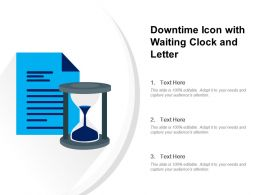 Downtime Icon With Waiting Clock And Letter