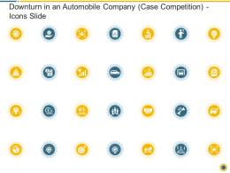Downturn In An Automobile Company Case Competition Icons Slide Ppt Infographics Objects