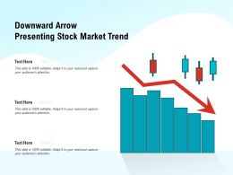 Downward Arrow Presenting Stock Market Trend