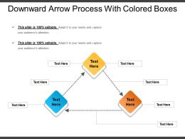 Downward Arrow Process With Colored Boxes