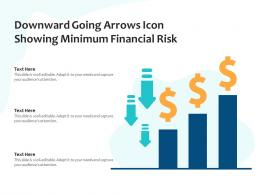 Downward Going Arrows Icon Showing Minimum Financial Risk