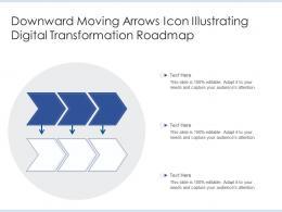 Downward Moving Arrows Icon Illustrating Digital Transformation Roadmap