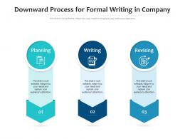 Downward Process For Formal Writing In Company