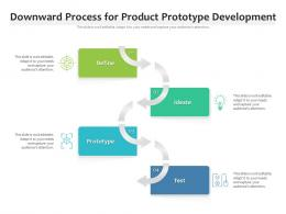 Downward Process For Product Prototype Development