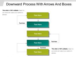 Downward Process With Arrows And Boxes